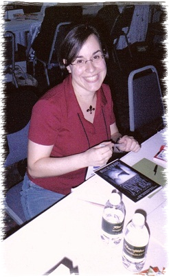 Sandra signs her first novel during the RWA National Conference 2005
